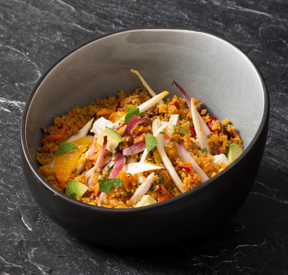Quinoa salade met witlof en feta