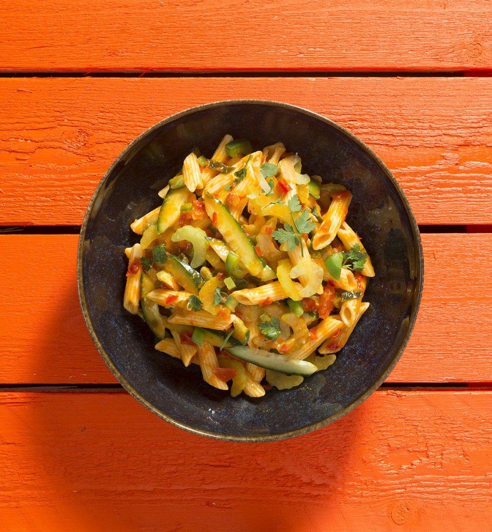 Salade pasta mediterraan
